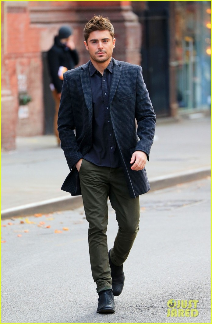 Zac Efron on location for 'Are we officially dating' in NYC